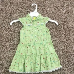 Toddlers green dress